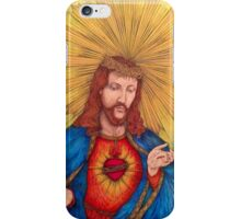 Sacred Heart Of Jesus Christ Drawing iPhone Case/Skin