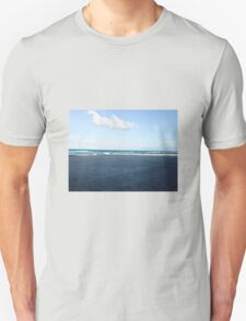 Florida beach with white clouds and waves Unisex T-Shirt