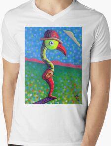 Hat Trick Mens V-Neck T-Shirt