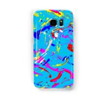 Colorful Abstract Paint Splashes Samsung Galaxy Case/Skin