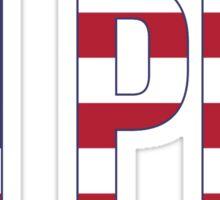 pi phi stars stripes Sticker