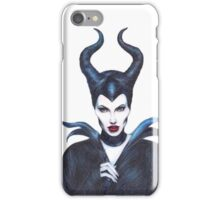 Maleficent drawing iPhone Case/Skin