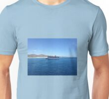 Carnival cruise ship on the ocean Unisex T-Shirt