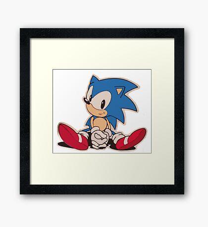 Sitting Sonic Framed Print