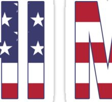 phi mu stars stripes Sticker