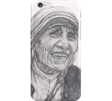 Mother Theresa Drawing iPhone Case/Skin