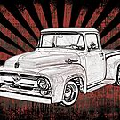 1956 Ford Truck with Sunburst by surgedesigns