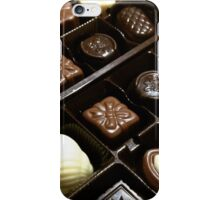Assorted chocolate candy for dessert iPhone Case/Skin