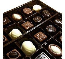 Assorted chocolate candy for dessert Photographic Print