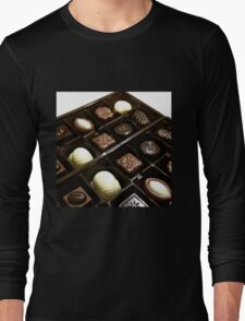 Assorted chocolate candy for dessert Long Sleeve T-Shirt