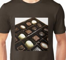 Assorted chocolate candy for dessert Unisex T-Shirt
