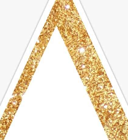delta gold Sticker