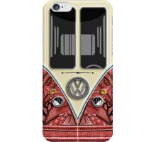 Aztec red minibus minivan Wagon iPhone Case/Skin