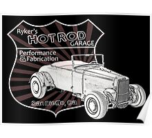 Rykers Hot Rod Garage Poster