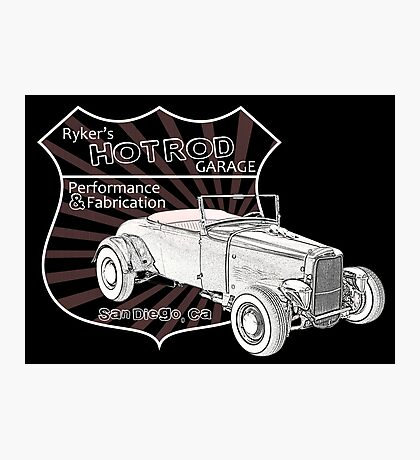 Rykers Hot Rod Garage Photographic Print