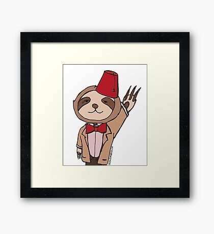 The Eleventh Sloth Framed Print