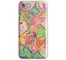 Lilly inspired Flamingos  iPhone Case/Skin