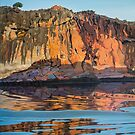 Sunlight and shadow at Geikie Gorge by Freda Surgenor