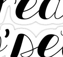 treat yoself cute black script Sticker
