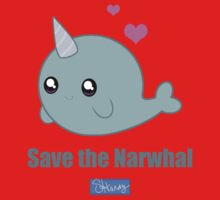 Save the Narwhal One Piece - Short Sleeve