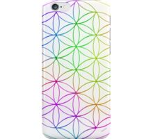Flower of Life - White Rainbow iPhone Case/Skin