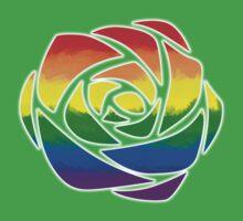 Rainbow Rose Kids Tee