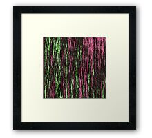 Electric Fur - Pink, Black & Green Framed Print