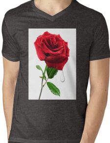 SOME SAY LOVE ..IT IS A FLOWER.. Mens V-Neck T-Shirt