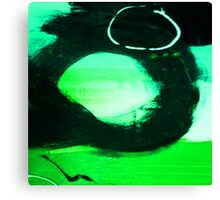 ABSTRACT GREEN, BLUE & BLACK Canvas Print