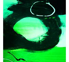 ABSTRACT GREEN, BLUE & BLACK Photographic Print
