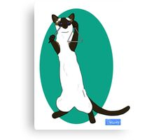 Triangle Playing Cat Canvas Print