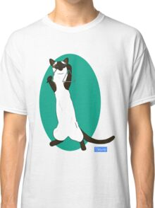 Triangle Playing Cat Classic T-Shirt