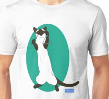 Triangle Playing Cat Unisex T-Shirt