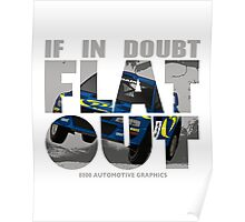 Collin McRae Tribute Flat Out Poster