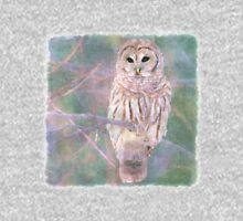 Barred Owl Pastel Oil Painting Unisex T-Shirt