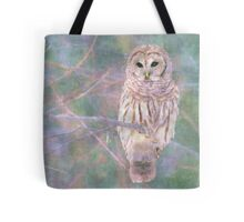 Barred Owl Pastel Oil Painting Tote Bag