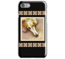 Borzoi in Repose - Black Collection iPhone Case/Skin