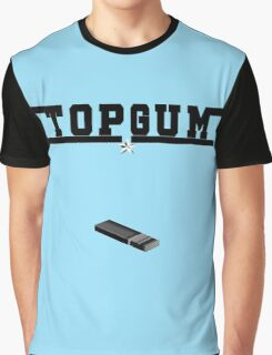 Top Gum T-Shirt - Feel The Need For Speed Gun Parody Sticker Graphic T-Shirt