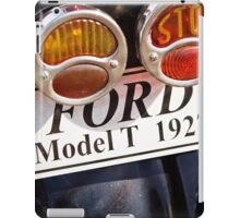 Indicator and Brake Light of a 1927 Model T Ford iPad Case/Skin
