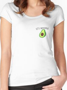 let's avocuddle Women's Fitted Scoop T-Shirt
