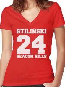 Stilinski 24 - Beacon Hills Women's Fitted V-Neck T-Shirt