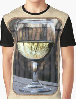 Reflections of Winter in a Glass of Wine Graphic T-Shirt