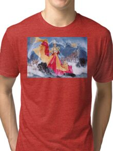Beautiful woman Tri-blend T-Shirt