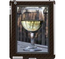 Reflections of Winter in a Glass of Wine iPad Case/Skin