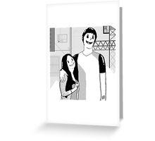 Inkblot Love Greeting Card