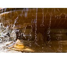 Buttery Golden Marble Through Ripping Water Curtains - Take One Photographic Print