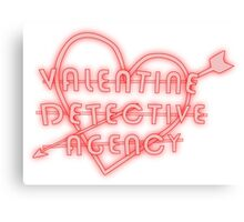 valentine detective agency  Canvas Print