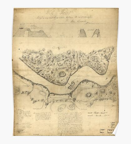 American Revolutionary War Era Maps 1750-1786 989 West Point surveyed a coup d'oeil the 24th October laid down the 27th October 1783 Poster