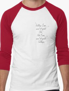 Follow Love Quote in Red Men's Baseball ¾ T-Shirt