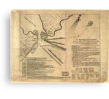 American Revolutionary War Era Maps 1750-1786 260 A Representation of the sea fight on the 5th of Sepr 1781 between Rear Admiral Graves and the Count de Canvas Print